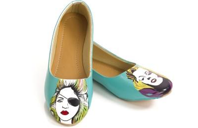 Al Artz Hand Painted Shoes Funky Casual Ballerina