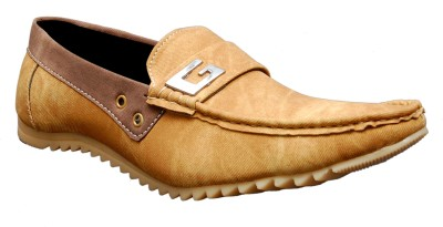 Oora Tan (Chiku) Double Shade Loafers