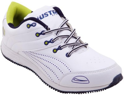 Just Go Men Light Weight White Blue Sports Running Shoes
