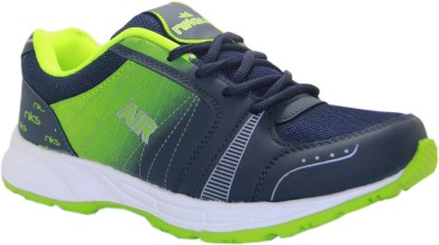 Stepin Soles Stricker-16 Green/Blue Running Shoes