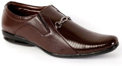 Shoes N Style Brown Formal-7 Slip On Shoes