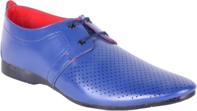 Anshul Fashion Mens Blue Formal Fine Quality Shoes Lace Up