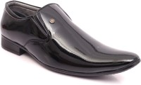 Adam's Heel Men Slip On Shoes(Black)