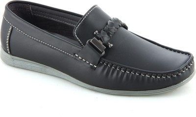 Faces By Devils Boxer Black Loafers