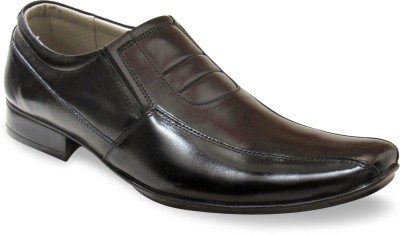 Sapatos Genuine Leather stylish Black Slip On Shoes