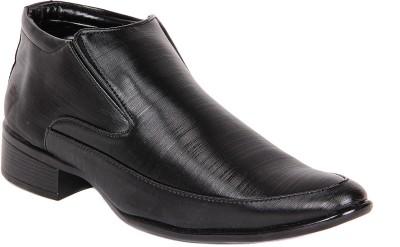 Kohinoor Office Black Slip On Shoes