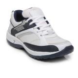 Ten White::Blue Mesh Sports Shoes Runnin...