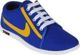 Vonc Royal Blue & Yellow Mens Canvas Sho...