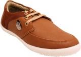 Belleza Mens Casual Sneakers (Brown)