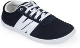 Rajdoot Canvas Shoes (Black, White)