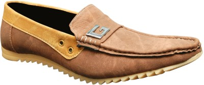 Oora Brown Double Shade Loafers