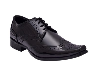 Bxxy Black British Brogue Lace Up Shoes