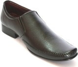 BLK LEATHER Slip On Shoes (Black)