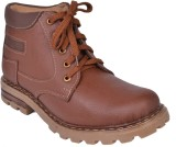 Leather Wood Boots (Brown)
