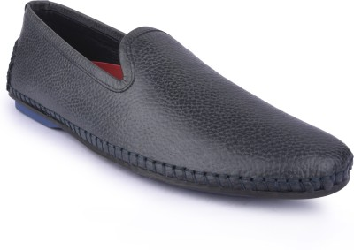 Buckleup MENS LEATHER SHOES BUPAZZINI-4_GREY-Size-10 Slip On(Grey)