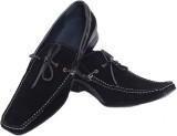 Aura Shoes SR3 Boat Shoes (Black)