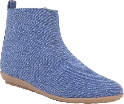Exotique Flat Boots(Blue)