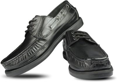 Blue Harpers Black Lace Up Shoes