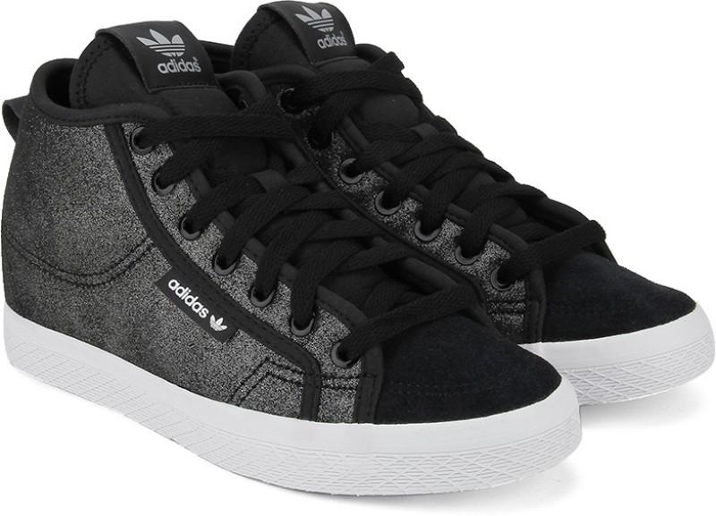 Adidas Basketball Shoes(Black, White)
