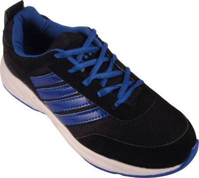 Action Synergy 7152 Black/Blue Sports Walking Shoes