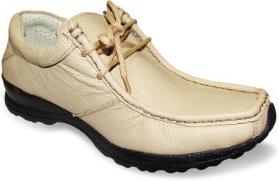 Sapatos Beige Genuine Leather stylish Outdoors Shoes
