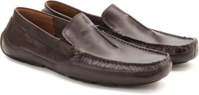 Clarks Ashmont Race Brown Smooth Loafers