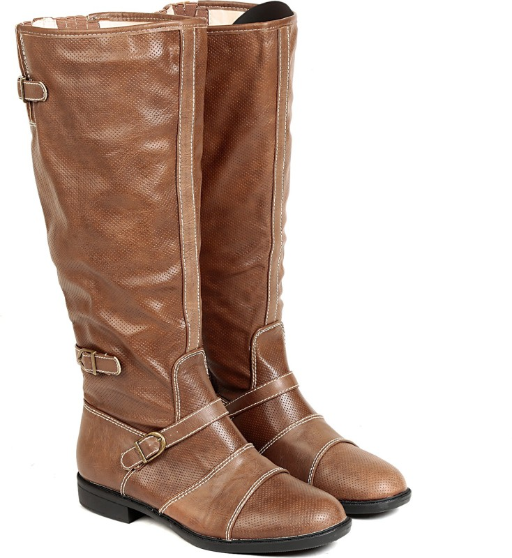 Ten Womens Tan Knee Length Boots Boots