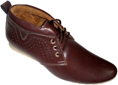 Good Man Brown Faux Leather shoes Lace Up