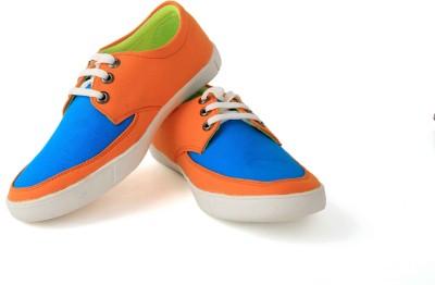 Felando 407-Orange-2 Canvas Shoes