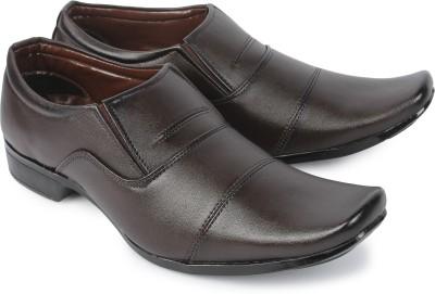 Baca Choo Baca Choo Men Leather Brown Shoes Party Wear