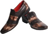 Trackland Party Wear Shoes (Brown)