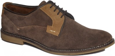 Stylox Brown Suede Leather Casual Shoes