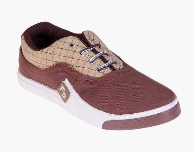 Fluid Brown Check Canvas Shoes
