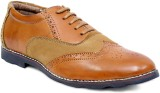Braavosi Suede Brogues Lace Up (Tan)