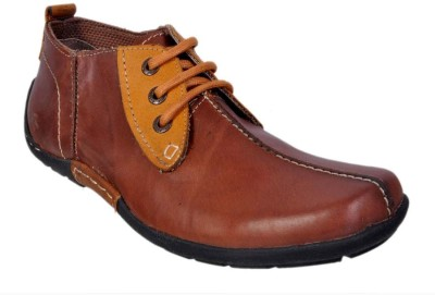 Apaache Oil Pull Up Leather Casual Shoes