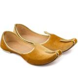 Tashi Stylish Golden Velvet Jutti Jutis ...