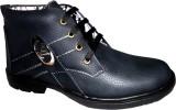 Hinacshi Black Faux Leather Boots (Black...