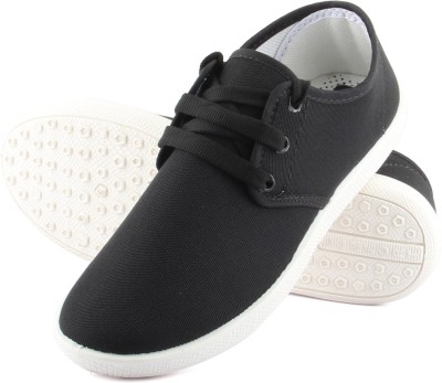 Anupamaa Dark Black Casuals Canvas Shoes