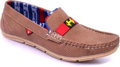 Marcbeau Lee Mens Loafers(Tan, Tan)