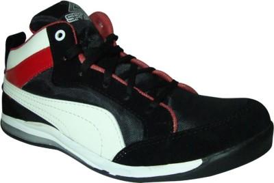JK PORT Black Synthetic Sport Shoe Riding Shoes