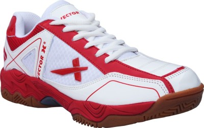 Vector X TS-1045-White Red Badminton Shoes
