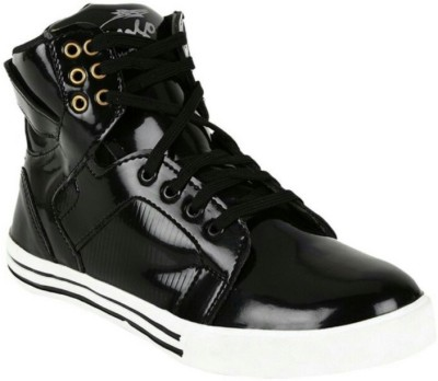 La Shades Jorden Patent High Ankle Sneakers