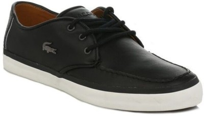 Lacoste Mens Black Sevrin LCR Leather Trainers Casual Shoes