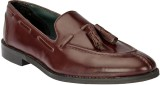 Black Pony Casual Loafers (Burgundy)