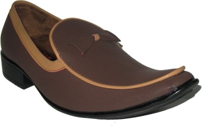 Jajos Brown Fancy Loafer Loafers
