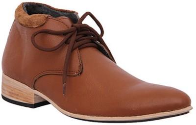 Stiletto Tan Color Leather Lace Up Shoes
