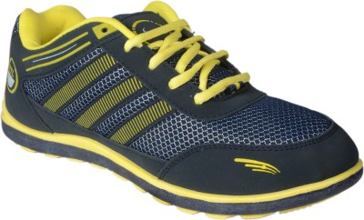 Hitcolus Navy Blue & Yellow Casual Shoes
