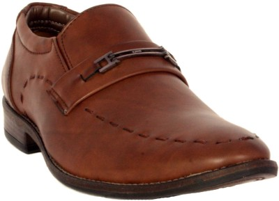 Merashoe MSF8017-Brown Slip On Shoes