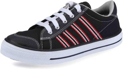 Unistar Gents Black Canvas Shoes