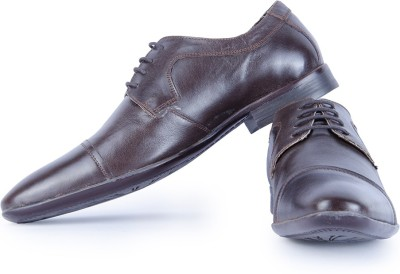 Burkley Brown Formal Pure Leather Shoes Party Wear